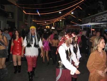 Karneval feiern auf den Straßen