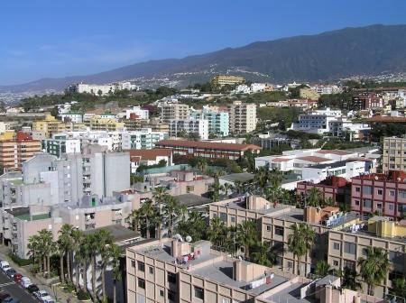 Blick über die Dächer von Puerto de la Cruz
